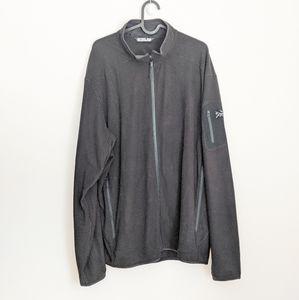 Arc'Teryx Men's Black Delta LT Zip-Up Jacket XXL